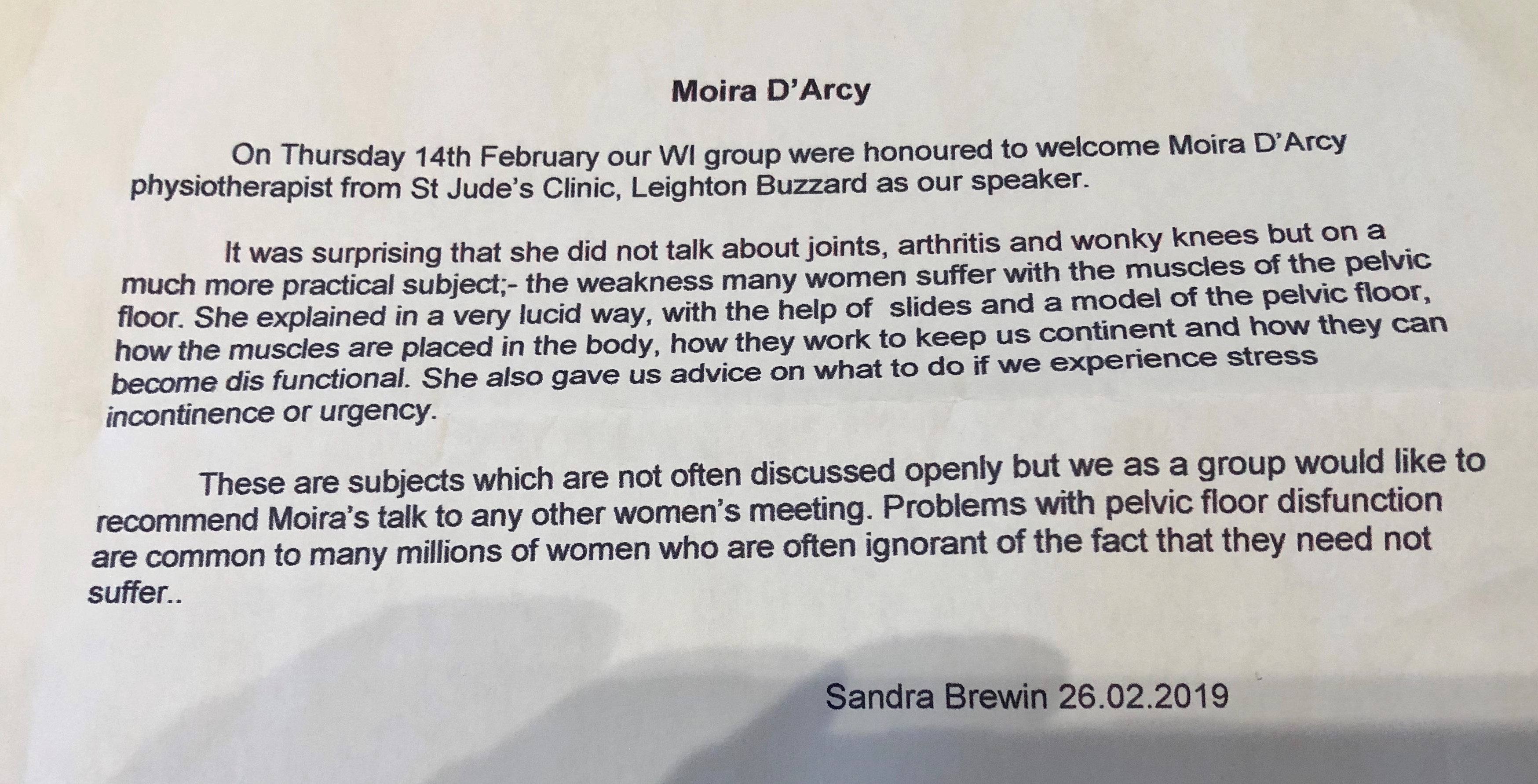 moira wi talk review